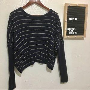 Urban Outfitters Dark blue knit sweater siz medium